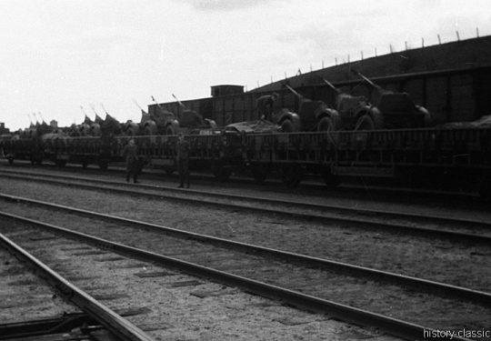 Deutsche Reichsbahn / Wehrmacht - Militärtransporte - Flugabwehrkanone FLAK 30 2 cm / 20 mm