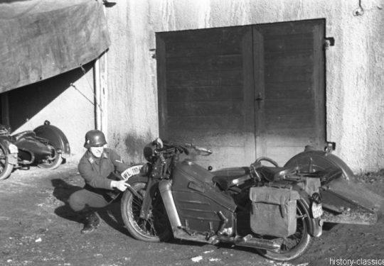 Wehrmacht Luftwaffe Motorrad Gnome et Rhone