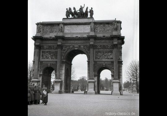 2. Weltkrieg Wehrmacht Europa – Einmarsch und Besetzung Frankreich - Paris Arc de Triomphe du Carrousel