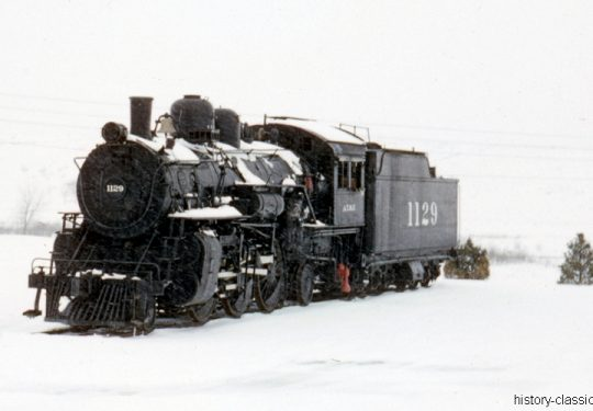 AT&SF Atchison, Topeka and Santa Fe Railway 1050 Class Prairie Type 2-6-2 - 1129