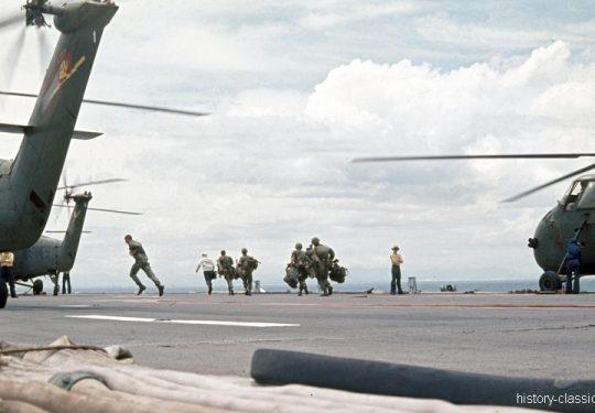 USMC United States Marine Corps Sikorsky HUS-1 / UH-34D / S-58 Seahorse - Vietnam-Krieg / Vietnam War