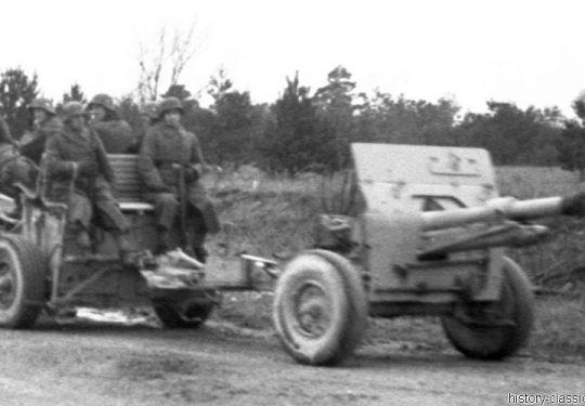 Wehrmacht Heer Feldkanone - Beutegeschütze, Herkunft unbekannt