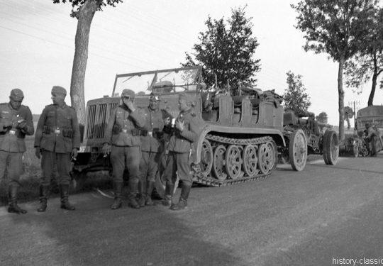 Wehrmacht Heer Schwere Kanone s.K 18 10 cm (10,5 cm) mit Sd.Kfz 7 Halbkettenfahrzeug / Mittlerer Zugkraftwagen 8 t