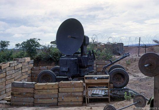 US ARMY / United States Army Artillerie Erkennungs-Radar / Counter-Battery Radar Sperry AN/MPQ-10 - Vietnam-Krieg / Vietnam War