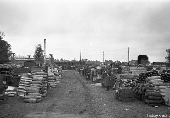 Wehrmacht Heer Munitionsdepot Ostfront