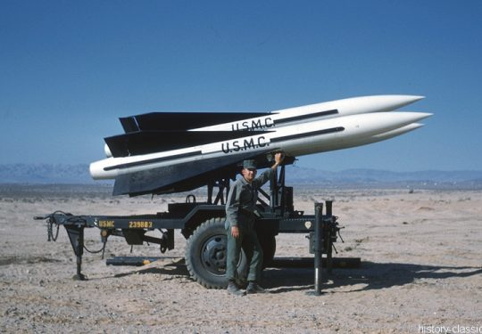 USMC United States Marine Corps Flugabwehrrakete / Surface to Air Missile (SAM) Raytheon MIM-23 Hawk