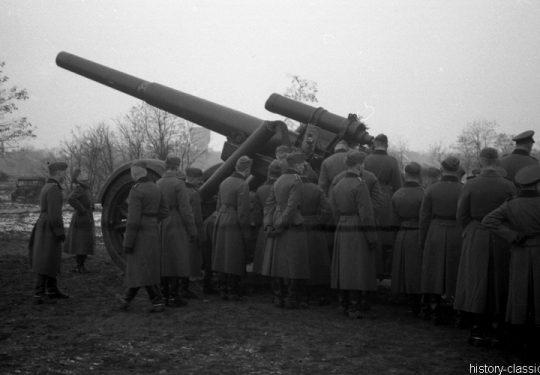 Wehrmacht Heer Mörser 18 21 cm - Ausbildung