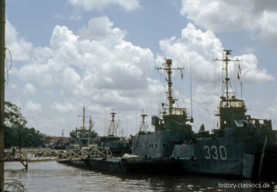 Vietnam-Krieg / Vietnam War - Süd Vietnam Marine / Republic of Vietnam Navy / Landing Craft Infantry (Large) RVNS Loi Cong HQ-330