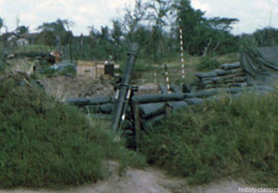 US ARMY / United States Army Mörser / Mortar M29 3.2 inch 81 mm - Vietnam-Krieg / Vietnam War