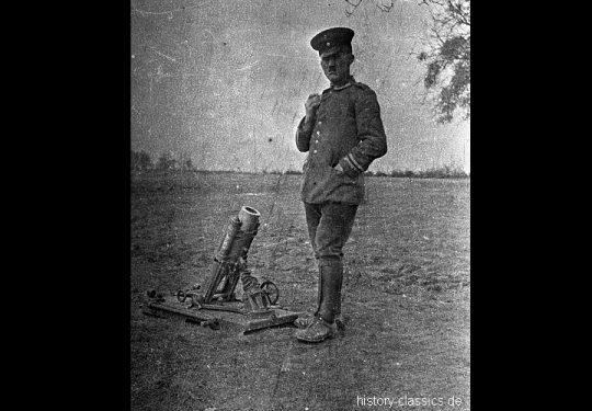 1. Weltkrieg Deutsches Heer Leichte Minenwerfer-Kompanie Nr. 221 - Leichter Granatwerfer / Leichter Minenwerfer Alte Ausführung