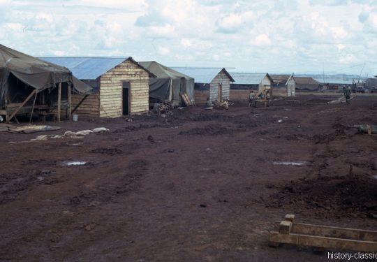 USA Vietnam-Krieg / Vietnam War - Unknown Muddy Military Base