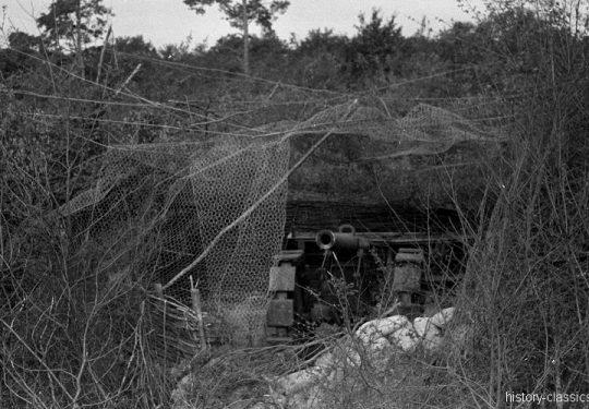 Französisches Heer / French Land Forces (Army) / Armée de terre Feldgeschütz Canon de 155 mm L modèle 1877 - Maginot-Linie 1940
