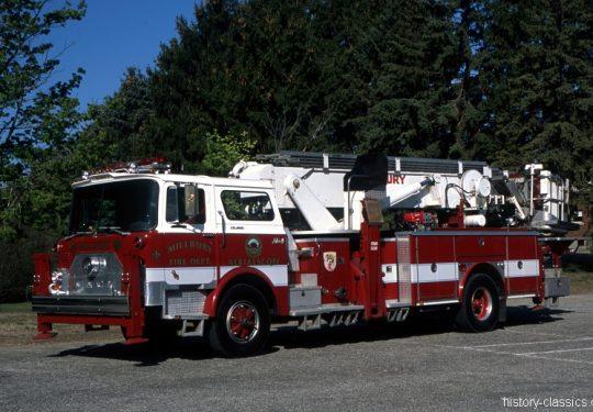 USA US-Fire Truck MACK CF Modell Baker 75 Foot Aerialscope