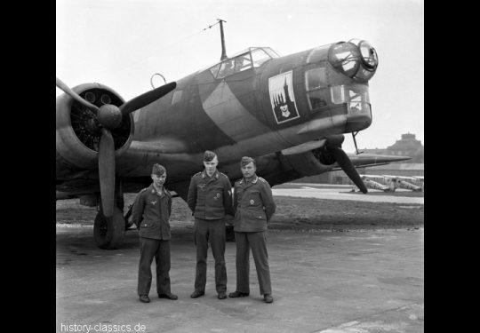 Wehrmacht Luftwaffe Ausbildung mit Junkers Ju 86 - Bordfunkerschule Halle / Saale